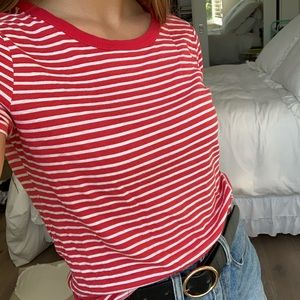 URBAN OUTFITTERS CANDY STRIPED TEE 🤍❤️